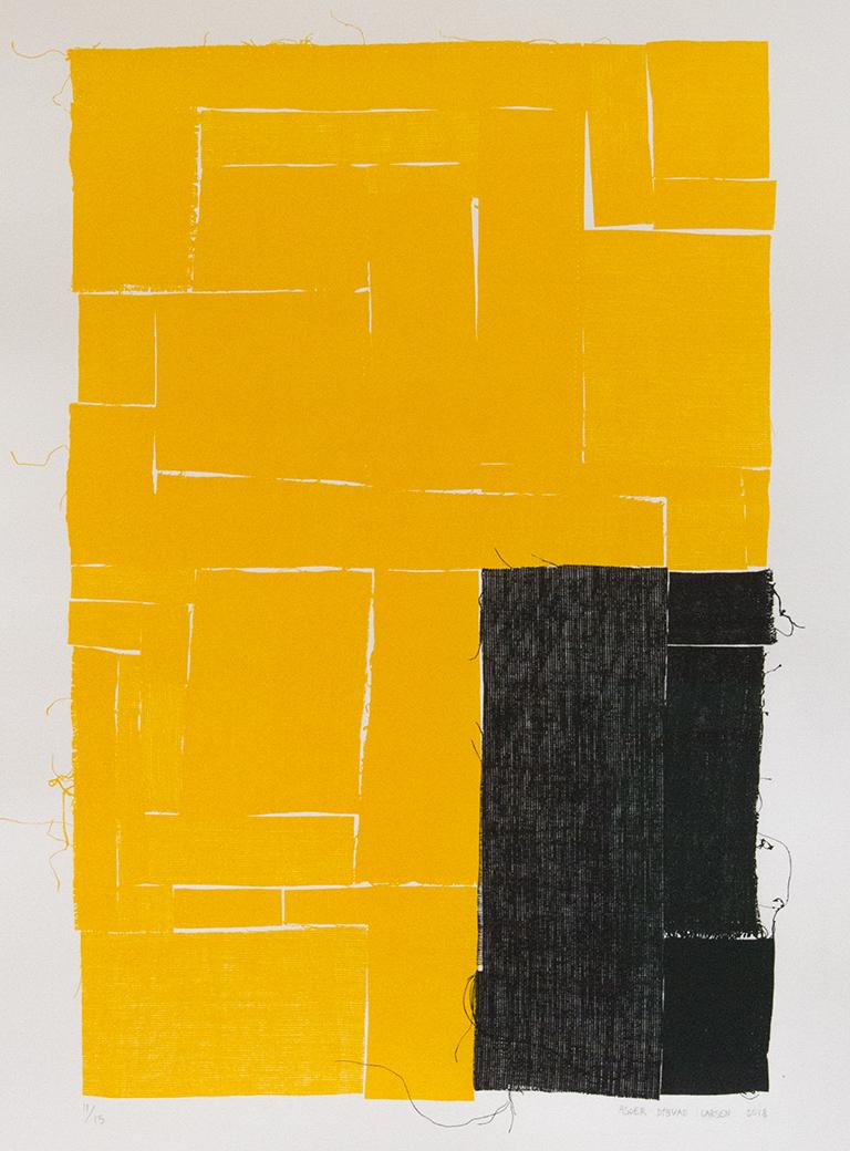 Asger dybvad larsen Untitled Black Yellow 2018