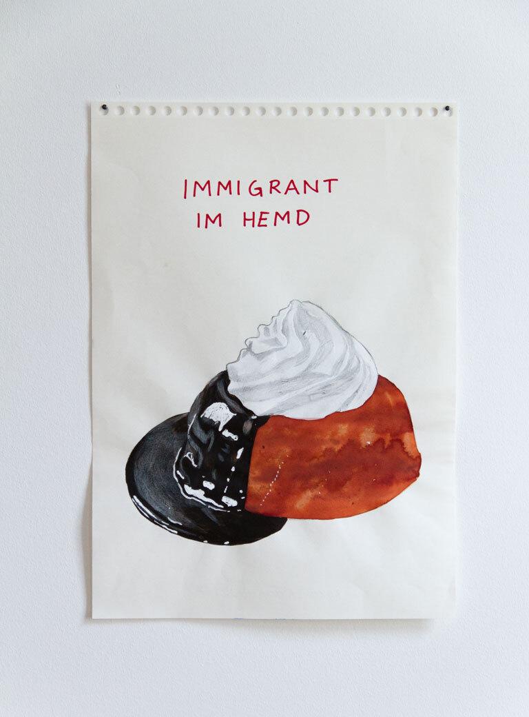 02 Riiko Sakkinen My Austrian Friends Immigrant im Hemd